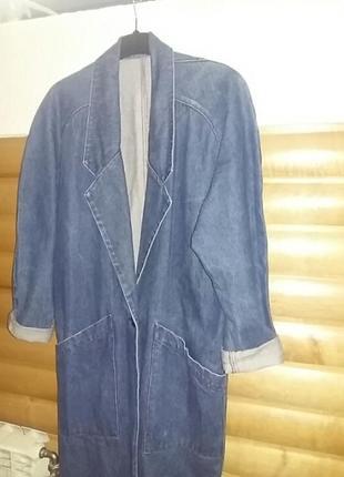 Оригинальный  джинсовый тренч   38 размер.  . 38 размер