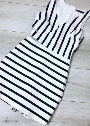 Ромпер платье в полоску с вырезом на талии