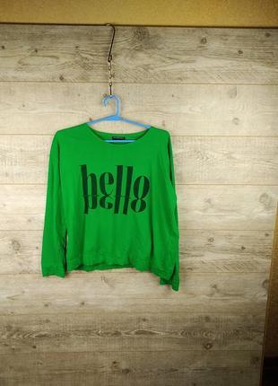 Sally cirlle  зеленый свитшот, толстовка  худи кофта свитер