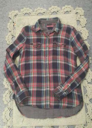 Рубашка в клеточку котон