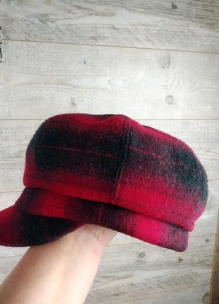 Красивый  шерстяной кепи фуражка картуз  шляпа