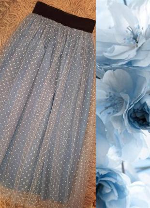 Фатиновая миди юбка в горошек!
