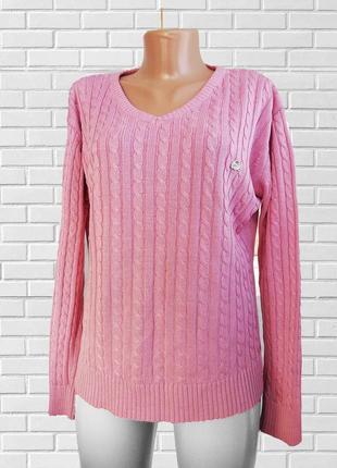 Трендовый свитер джемпер розового цвета lacoste