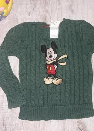 Изумрудный свитшот микки, реглан, свитер, свитерок