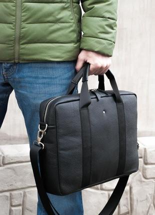Сумка портфель а4 для ноутбука кожаный натуральная кожа шкіра