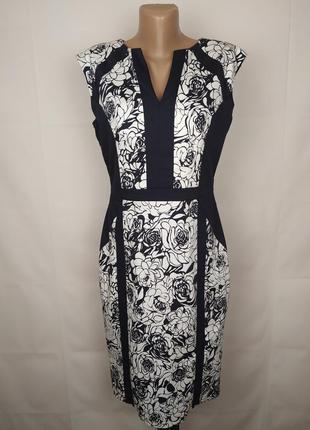 Платье новое стрейчевое красивое в принт markss&epncer uk 12/40/m