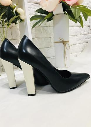Брендовые туфли, чёрные туфли, качественные туфельки