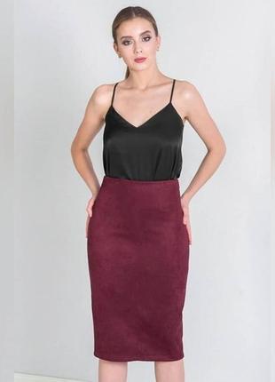 Стильная юбка из замши