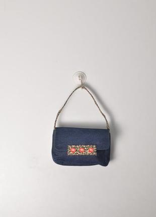 Джинсовый клатч. джинсовая мини сумка