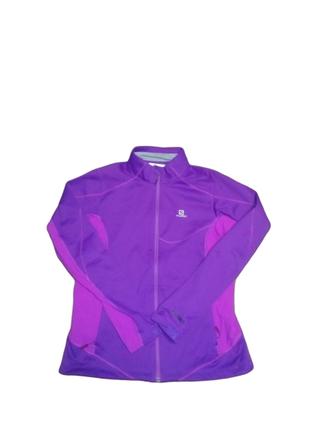 Salomon windstoppper ветрозащитная куртка трекинговая софтшел softshell