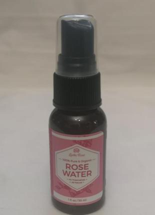Leven rose, органическая розовая вода, 30 мл