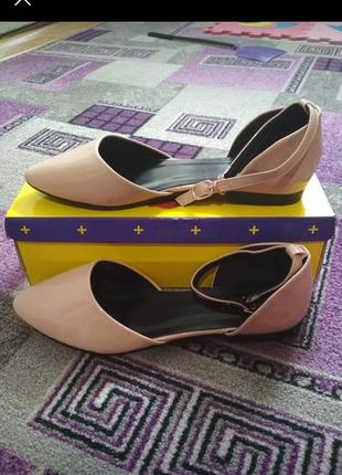 Туфли лодочки на низком ходу