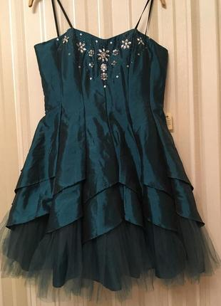 Вечернее платье/выпускное /выходное /цвет морской волны