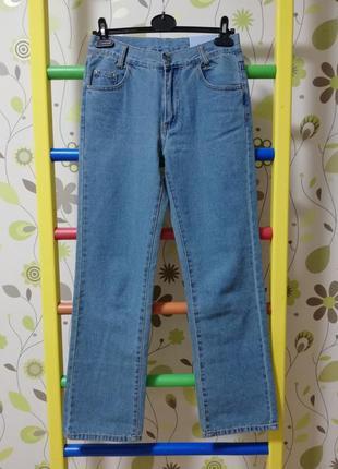 Джинси джинсы штаны штани сині блакитні синие голубые  xs s budget