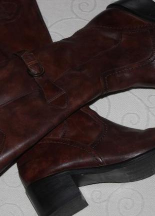 Gabor демисезонные высоки кожаные сапоги р. 38, 5
