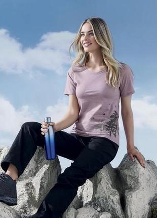 Женская термо футболка merino, 100% шерсть мериноса, термобелье crivit германия