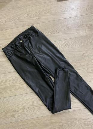 Штаны брюки из кожзама