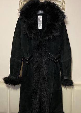 Дубленка пальто замшевое натуральная morgan