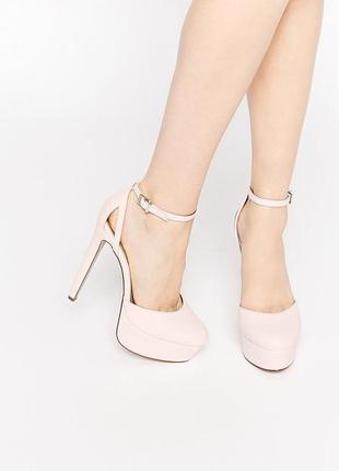 Стильные туфли на высоком каблуке и платформе асос asos