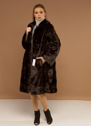 Норковая шуба пальто поперечка италия шикарный вариант модель 2020-2021