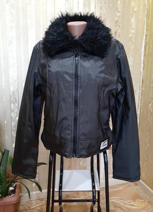 "Куртка ""city life"" утеплена, курточка антидождь черная"