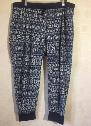 Штаны пижамные m&s 54  р флисовые.