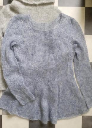 Мохеровый свитер с баской италия
