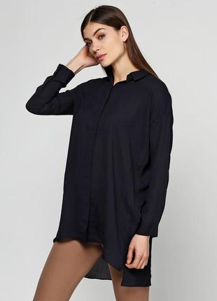 Длинная легкая расслабленная рубашка туника оверсайз