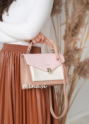 Клатч david jones cm5663t оригинал розовый кросс боди пудра сумка