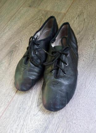Кожаные черные танцевальные тренировочные туфли обувь для танца балетки