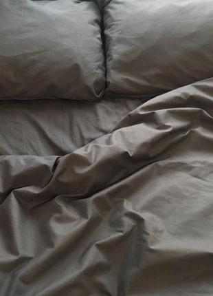 Серое постельное белье, однотонное постельное белье, постельное белье бязь