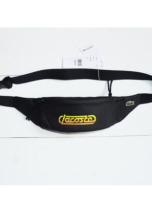 Сумка бананка через плечо или на пояс lacoste retro logo pack оригинал новая
