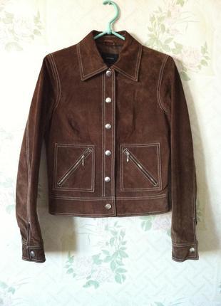 Замшевая куртка,жакет,натуральная кожа,замша. vero moda,куртка со строчкой