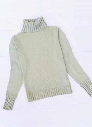 Осенний зимний вязаный натуральный свитер гольф под горло с кашемиром с ангорой 🌺