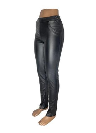 Женские матовые кожаные штаны 190-kozha