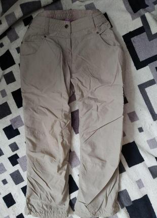 Укороченные летние женские брюки жатка