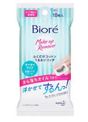 Салфетки для снятия макияжа biore япония