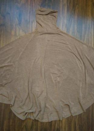 """Нюдовый свитер - пончо рукав"""" летучая мышь"""" oversize2"""