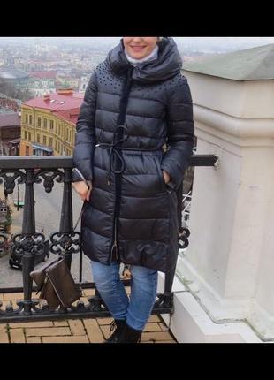 Пальто на синтепоне , куртка с декором