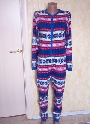 Красивый флисовый кигуруми /кигуруми/слип\человечек/халат/пижама /комбинезон