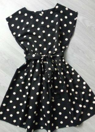 #розвантажуюсь горох, polka dot красивое платье,черно белый горошек