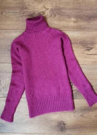 Шикарный теплый вязаный зимний мохеровый свитер реглан с горлышком 🌺