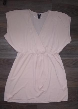 Бомбезное персиковое платье