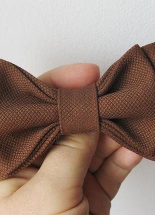 Галстук-бабочка коричневый, шоколадный детский. метелик