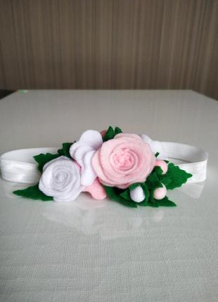 Цветочная повязка для девочки