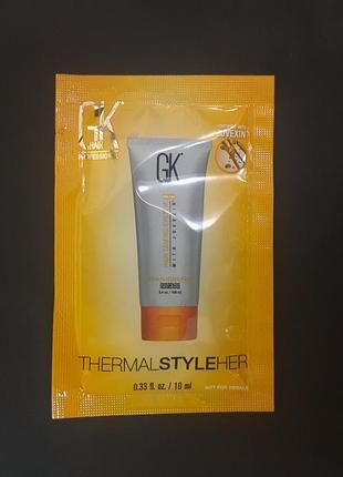 Пробник защитный крем для горячей укладки global keratin hair hair thermal style her 10 мл
