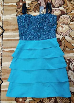 Чудненькое бирюзовое платье,новое