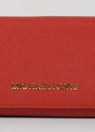 Кошелек женский кожаный michael kors 514-b красный, расцветки