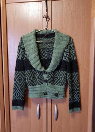 Кофта, короткая кофточка, короткий свитер, мохеровый свитер, шерстяной свитер италия