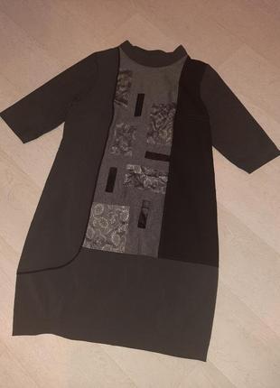 Стильное платье 3/4 рукав